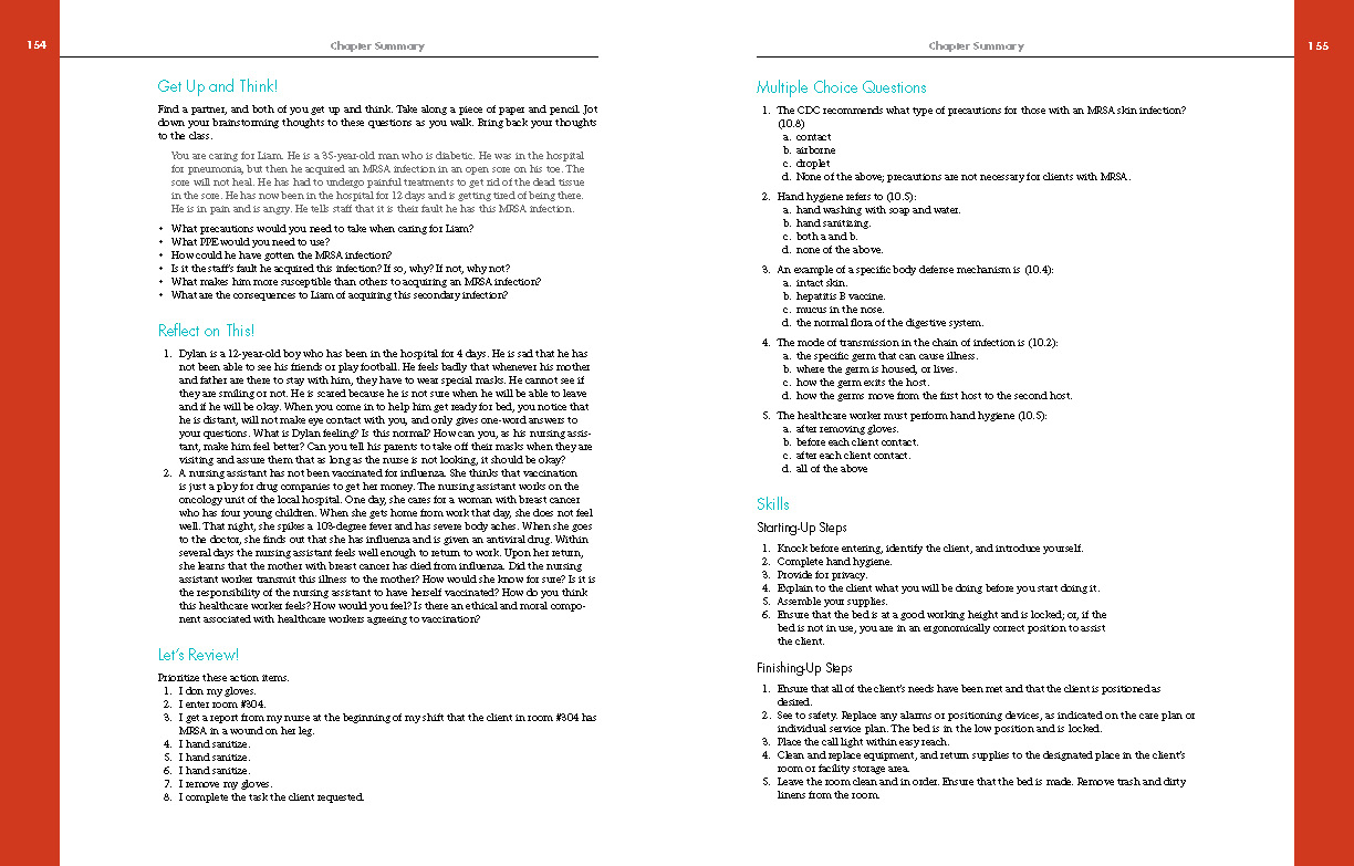 CNA: Nursing Assistant Certification, Sample Pages 3