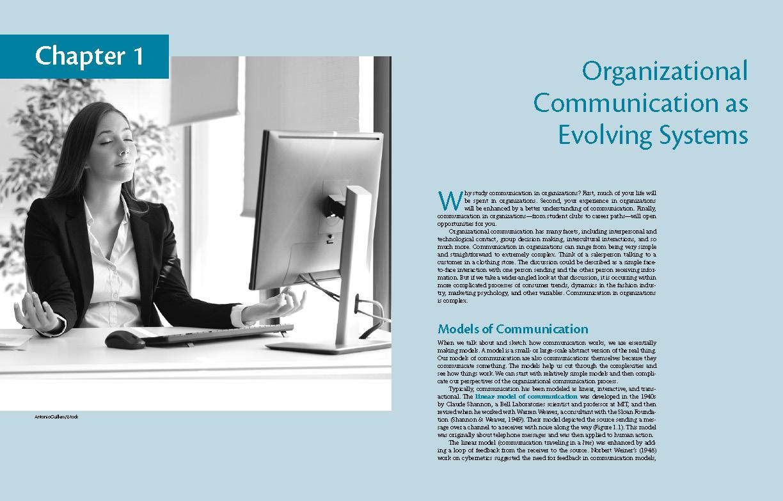 Communication, Organization, Adaptation interior pages